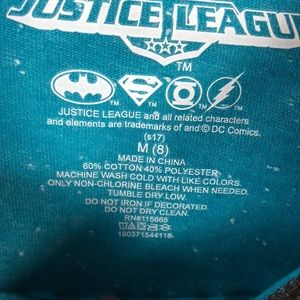 Justice League Shirts & Tops - Justice League Baseball Tee